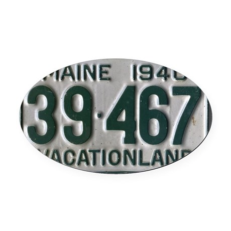 Maine 1940 License Plate Oval Car Magnet