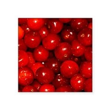 "Cherries Square Sticker 3"" x 3"""
