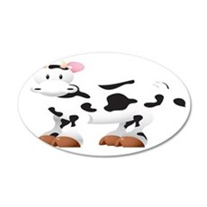 Cute Cow Shirt 35x21 Oval Wall Decal