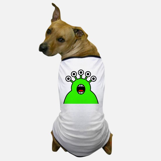 Kawaii Green Alien Monster Dog T-Shirt