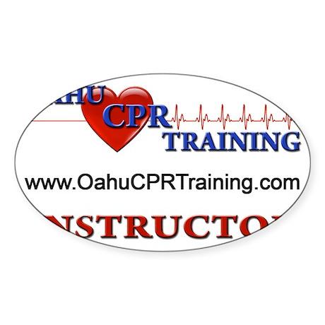 Instructor Back Logo Sticker (Oval)