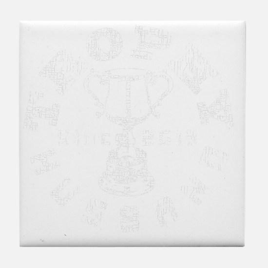 Trophy Husband Since 2013 white Tile Coaster