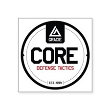 "Gracie CORE Defense Tactics Square Sticker 3"" x 3"""