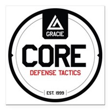"Gracie CORE Defense Tact Square Car Magnet 3"" x 3"""