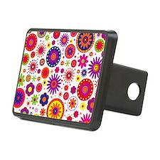 Hippie Rainbow Flower Patt Hitch Cover
