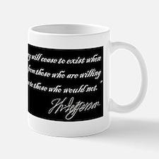 Thomas Jefferson -Democracy will fail Small Small Mug