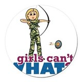 Archery girl Round Car Magnets