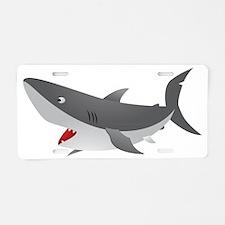 Shark Attack Shirt for Kids Aluminum License Plate
