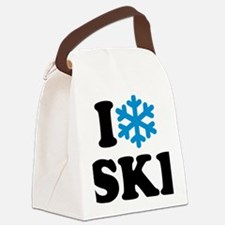 I love Ski Canvas Lunch Bag