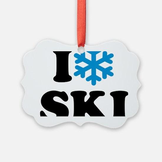 I love Ski Ornament