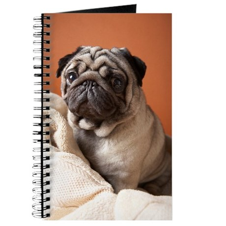 Dog on top of laundry Journal