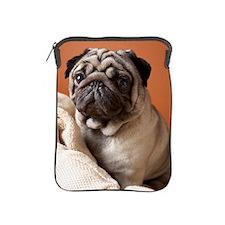 Dog on top of laundry iPad Sleeve