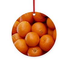 Oranges Round Ornament