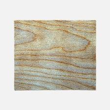 Wood Grain Faux Trendy Designer Throw Blanket