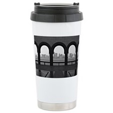 Doha skyline from museu Travel Mug