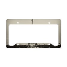 Eiffel Tower in old style bla License Plate Holder
