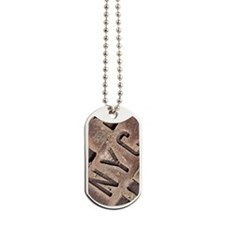 Downtown NYC manhole cover Dog Tags