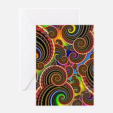 Funky Rainbow Swirl Pattern Greeting Card