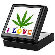 I Love Cannabis Keepsake Box
