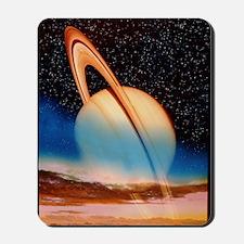 Saturn seen from its moon Titan Mousepad