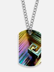 Bismuth crystal Dog Tags