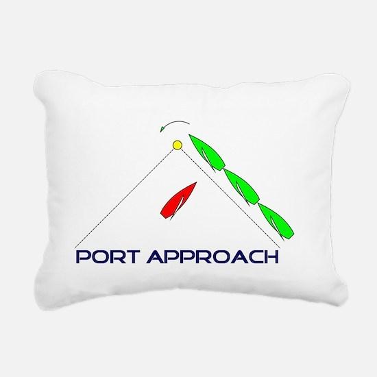 Port Approach - logo Rectangular Canvas Pillow