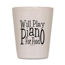 Will Play Piano Shot Glass