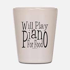 Will Play Piano Shot Glass