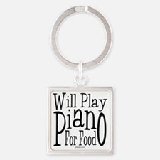 Will Play Piano Square Keychain