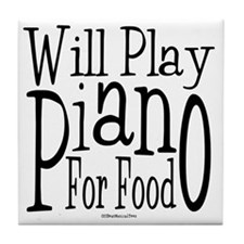 Will Play Piano Tile Coaster