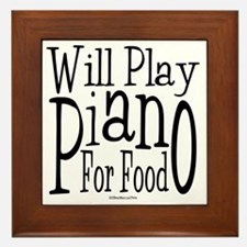 Will Play Piano Framed Tile