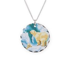 Mama Polar Bear and Cub Necklace
