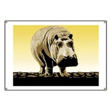 Big Happy Hippo Banner