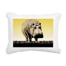 Big Happy Hippo Rectangular Canvas Pillow