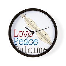 Love Peace Dulcimer Wall Clock
