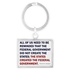 Ronald Reagan Quote Landscape Keychain