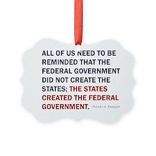 Ronald Reagan Quote Ornament