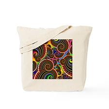 Funky Rainbow Swirl Pattern Tote Bag
