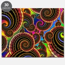 Funky Rainbow Swirl Pattern Puzzle
