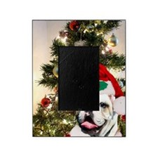 Christmas bulldog Picture Frame