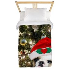 Christmas bulldog Twin Duvet