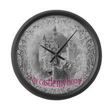 My castle my home Large Wall Clock