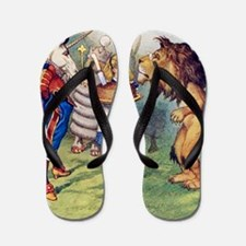 Alice LION  UNICORN_SQ2 copy Flip Flops
