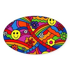 Hippie Smiley Face Rainbow and Flow Decal