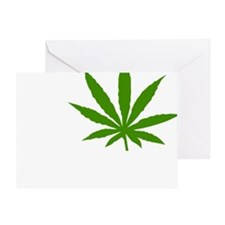 I Love Marijuana Greeting Card