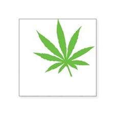 "I Love Marijuana Square Sticker 3"" x 3"""