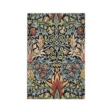 William Morris Design Rectangle Magnet