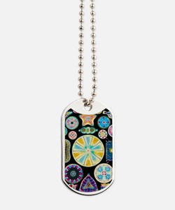 Art of Diatom algae (from Ernst Haeckel) Dog Tags