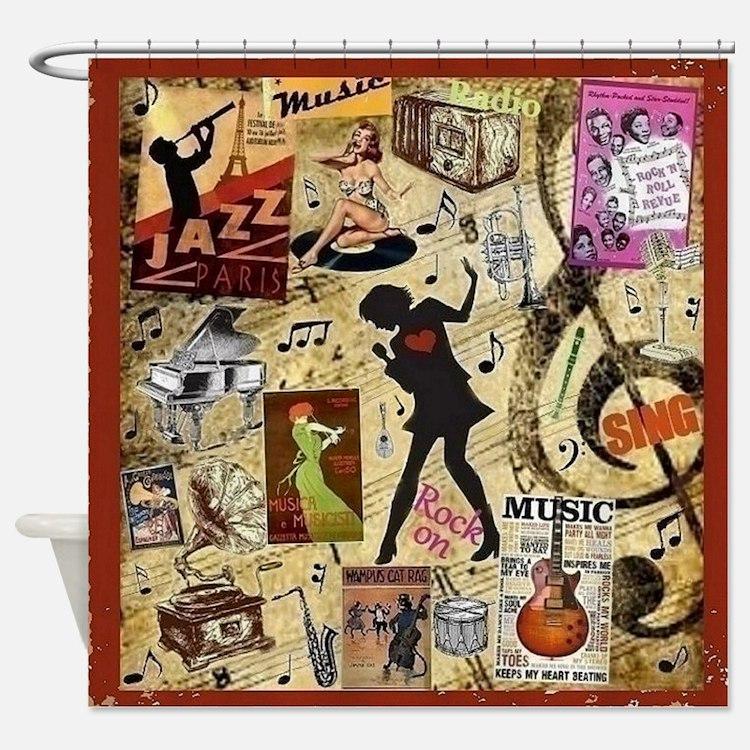 Music Mania Shower Curtain