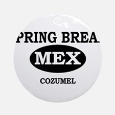 Spring Break Cozumel, Mexico Ornament (Round)